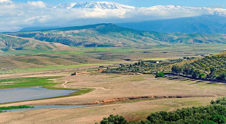 Марокко: бедный пустынный регион, горная гряда, палящее солнце, недостаток воды исуровые патриархальные структуры, но тем неменее страна стремительно прогрессирует иразвивает свое сельское хозяйство