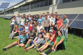 На летнем семинаре 2014 года в г. Нагольд (земля Баден-Вюртемберг) практиканты LOGO посетили парк по переработке вторсырья (AWG Abfallwirtschaft Landkreis Calw GmbH ) и изучили вопросы развития возобновляемой энергетики.