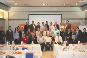 Участники подмосковного форума Alltech по вопросам свиноводства.