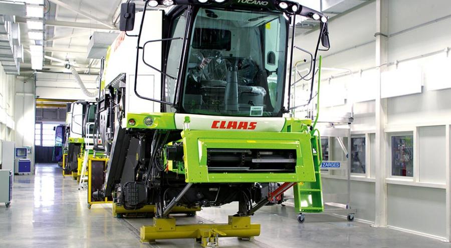 С вводом в эксплуатацию второй очереди завода Claas его производственная мощность возросла до 2 500 единиц техники в год. @ Фото: А. Андреев