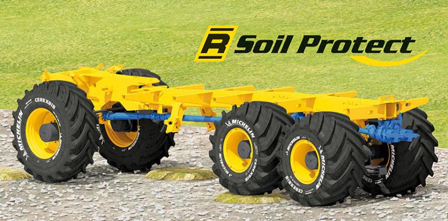 Благодаря системе R-Soil Protect при наезде колеса на неровность рама свеклоуборочного комбайна остается выравненной относительно осей. @ Фото: фирма