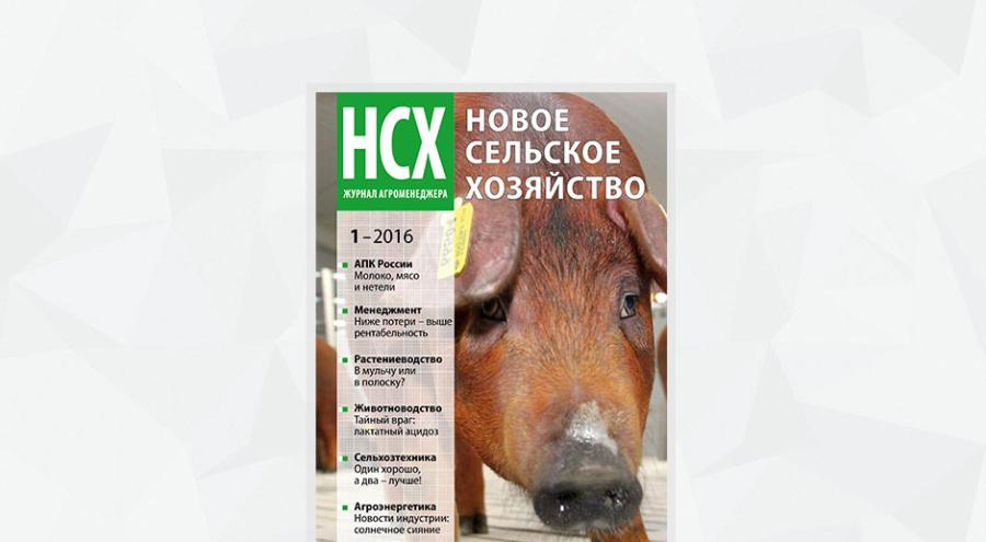Обложка журнала агроменеджера «Новое сельское хозяйство», номер 1/16